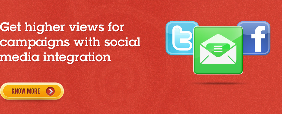 Get higher views for campaigns with social media integration